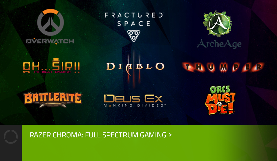 CHROMA COMPATIBLE GAMES