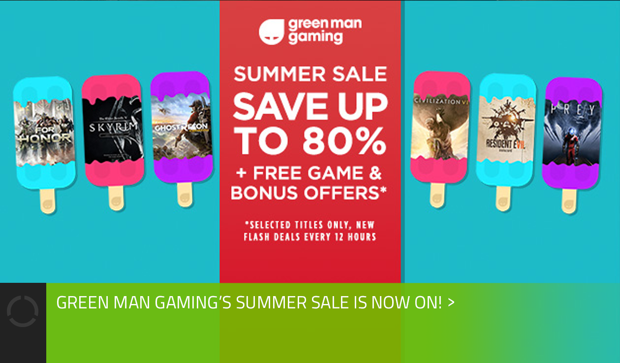 Get exclusive discounts on Green Man Gaming!