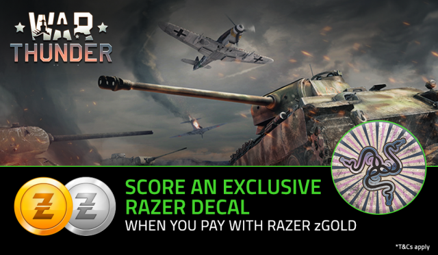RAZER zGOLD WAR THUNDER OFFER